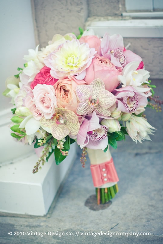 Vintage Design Co. // Soft Pink Bride's Bouquet