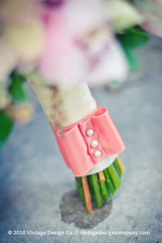Vintage Design Co. // Soft Pink Bride's Bouquet 3