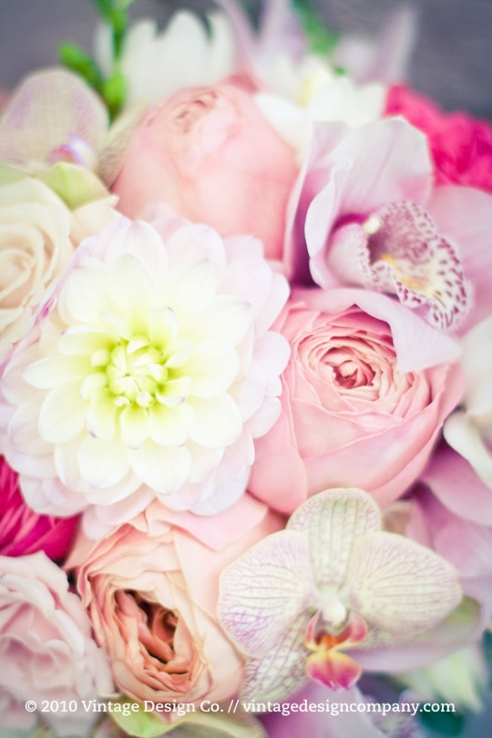 Vintage Design Co. // Soft Pink Bride's Bouquet 2