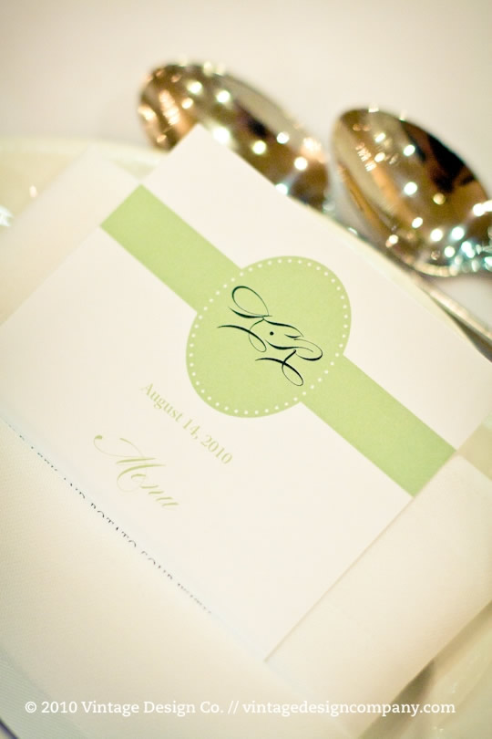 Vintage Design Co. // Wedding Menu at Queen's Landing
