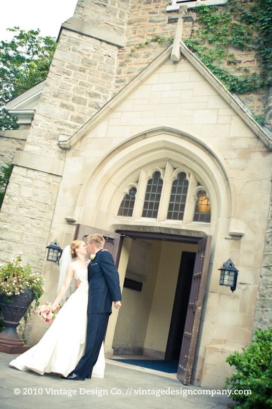 Vintage Design Co. // Wedding Ceremony at St. Mark's Anglican Church 6