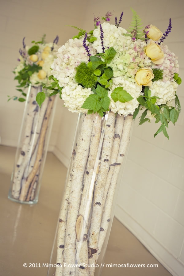 Inn on the Twenty - Wedding Ceremony Altar Flowers with Birch