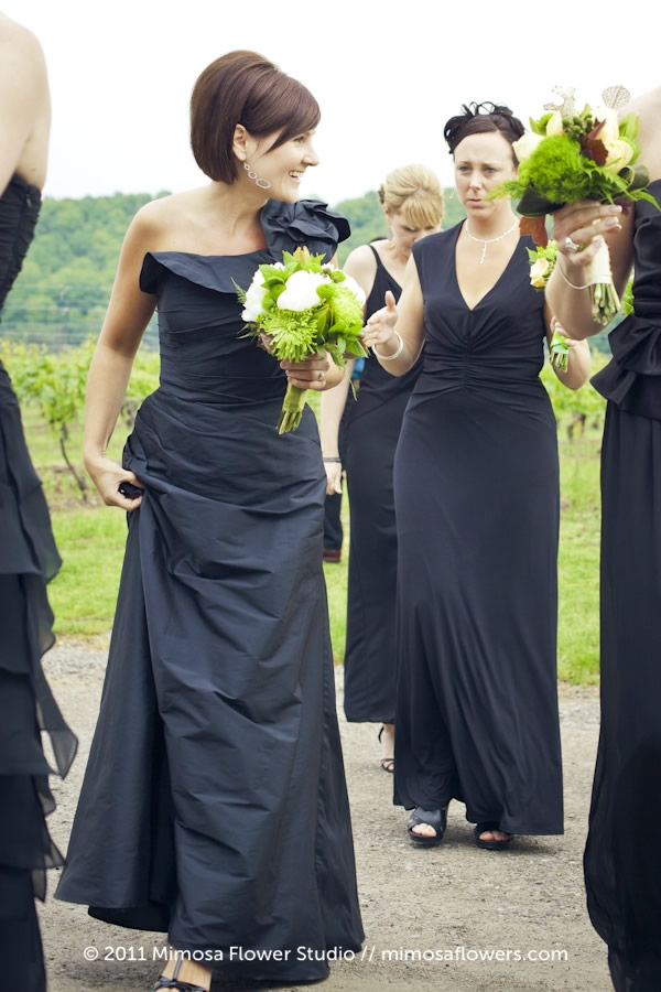 Inn on the Twenty - Wedding Bridesmaids in Black Dresses