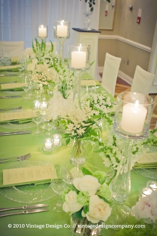 Vintage head table wedding
