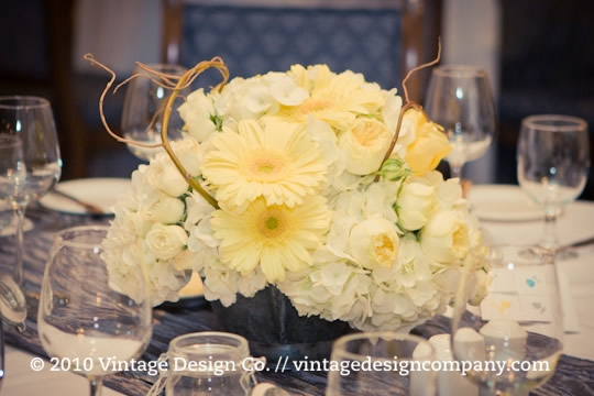 Niagara Wedding Florist // Yellow Centerpiece 1