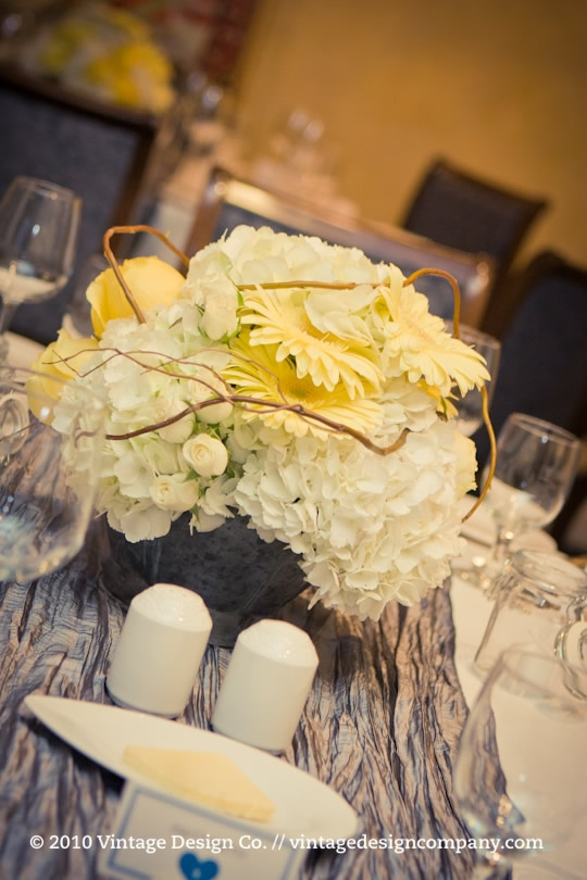 Niagara Wedding Florist // Yellow Centerpiece 3