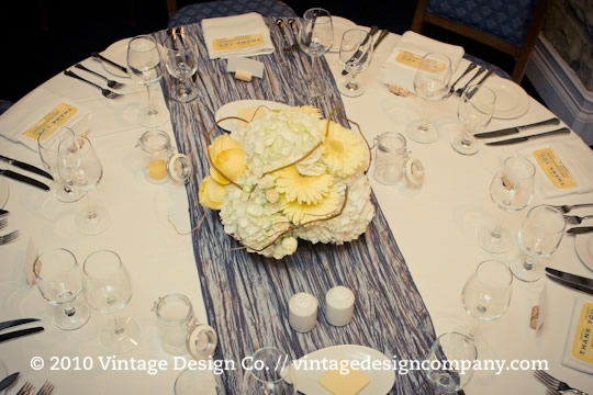 Niagara Wedding Florist // Yellow Centerpiece 2