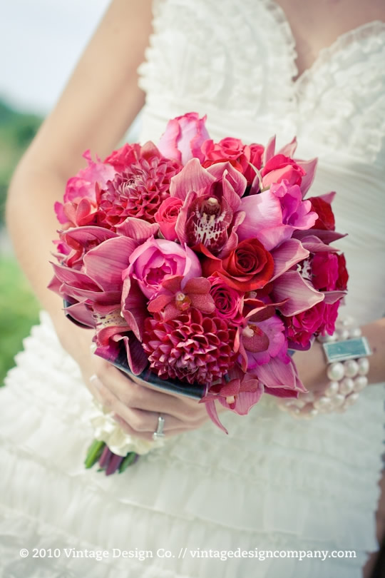 Red and Pink Bride's Bouquet 3