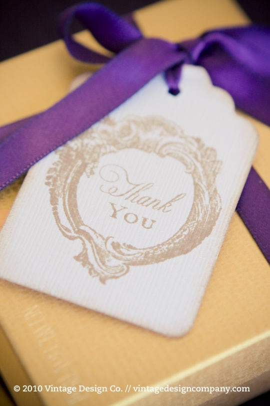 Vintage Design Co. // Wedding Guest Favor