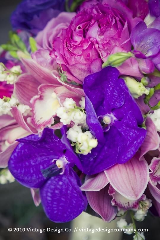 Vintage Design Co. // Purple Bride's Bouquet 4