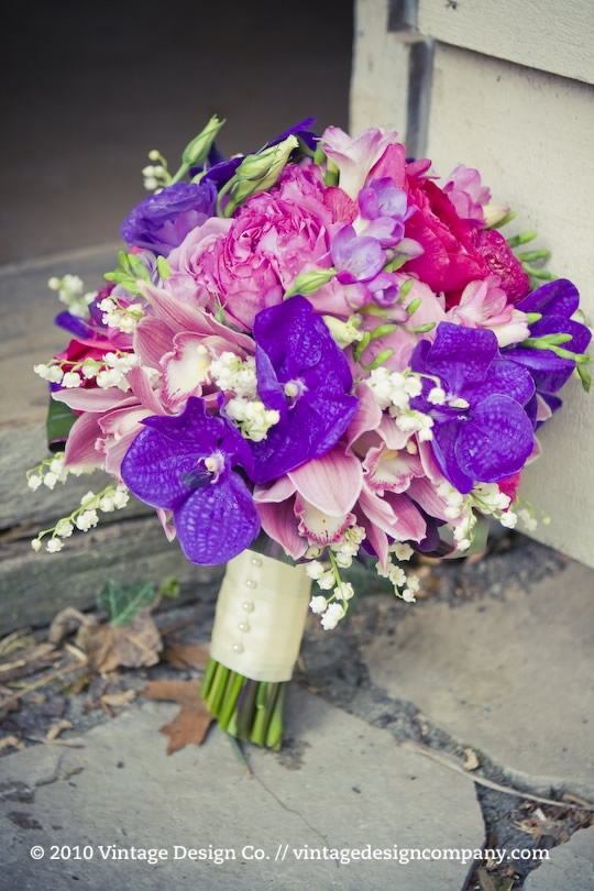 Vintage Design Co. // Purple Bride's Bouquet