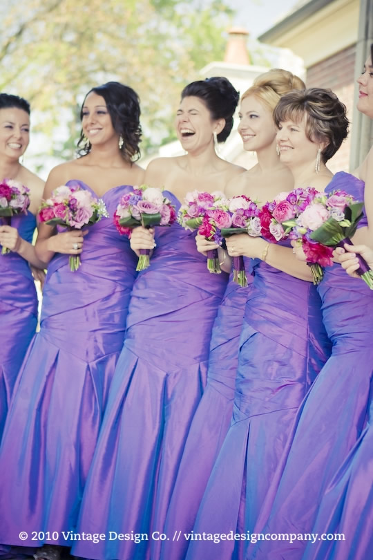 Vintage Design Co. // Purple Bridesmaid's Bouquet 2