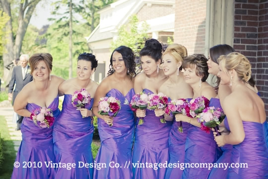 Vintage Design Co. // Purple Bridesmaid's Bouquet 3