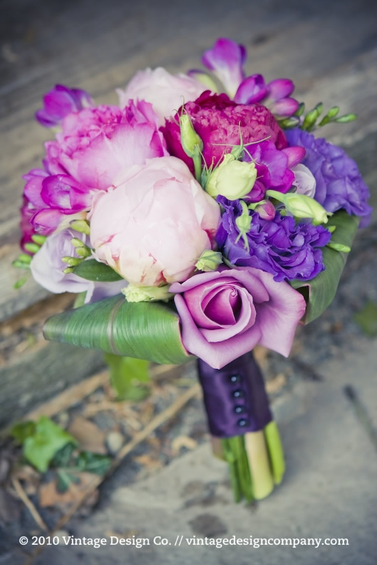 Vintage Design Co. // Purple Bridesmaid's Bouquet