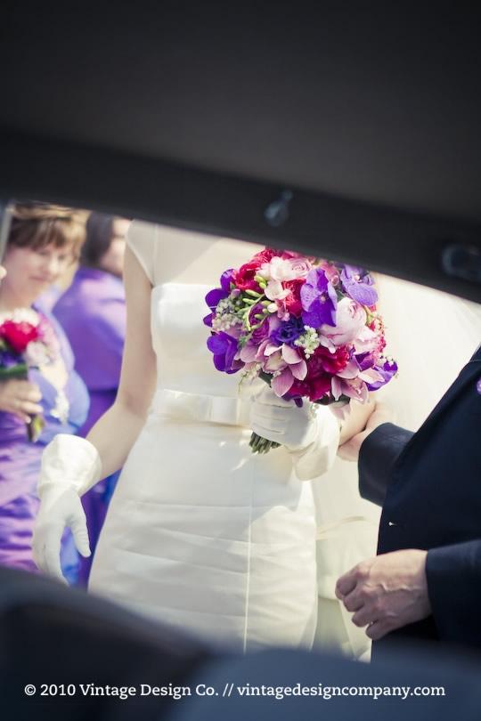 Vintage Design Co. // Purple Bride's Bouquet 2