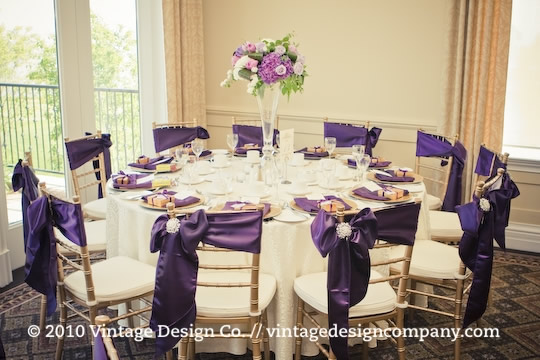 Vintage Design Co. // Purple Wedding Centerpieces