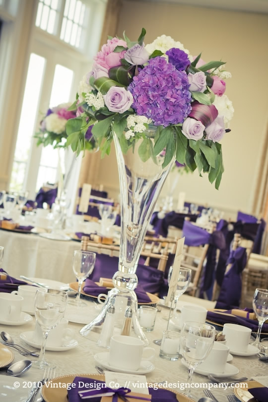 Vintage Design Co. // Purple Wedding Centerpieces 2
