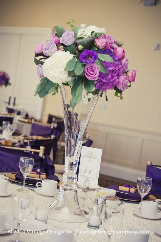 Vintage Design Co. // Purple Wedding Centerpieces 3