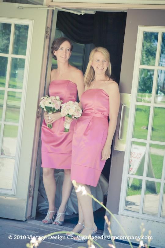 Niagara on the Lake Wedding Florist // Pink and White Bridesmaids