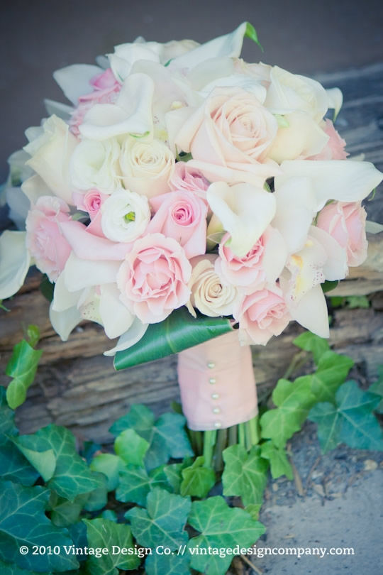 Niagara on the Lake Wedding Florist // Pink and White Bride's Bouquet