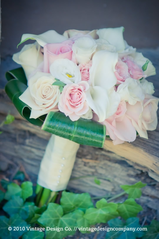 Niagara on the Lake Wedding Florist // Pink and White Bridesmaid Bouquet