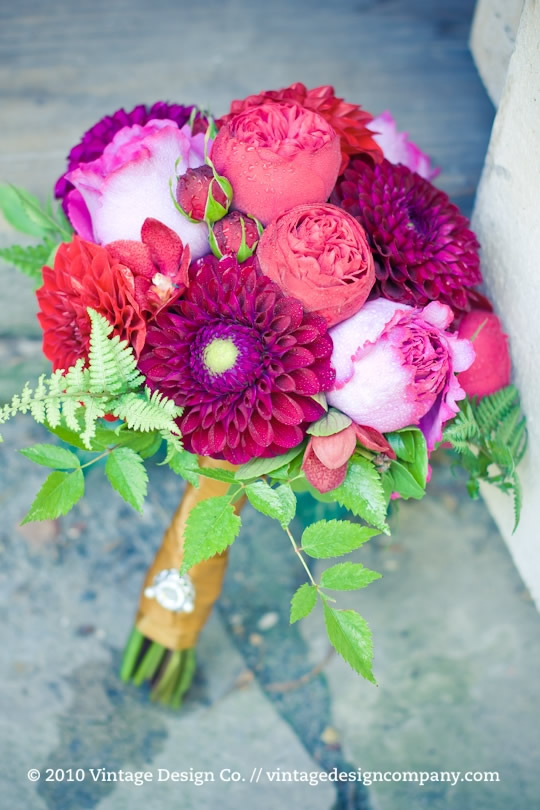 Vintage Design Co. // Red and Gold Bride's Bouquet 2