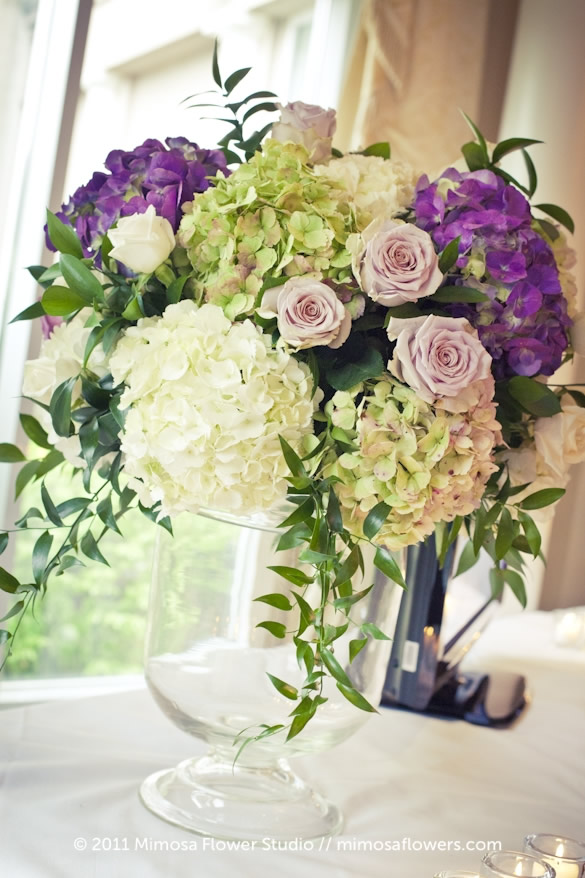 Large Purple Floral Arrangement