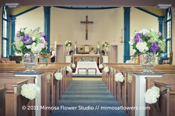 Wedding Ceremony and Altar Flowers 3