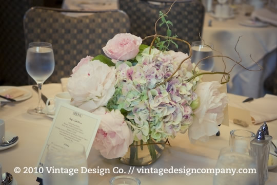 Vintage Design Co. // Centerpieces for Wedding Reception