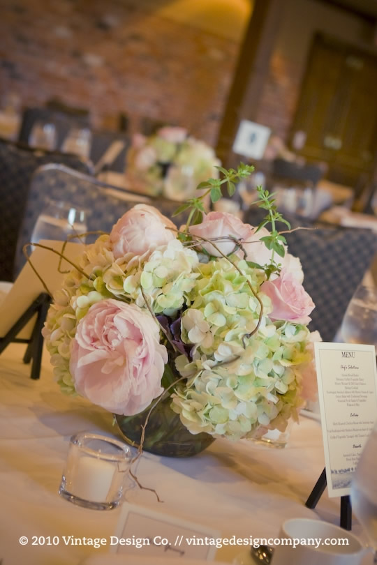 Vintage Design Co. // Reception Flowers
