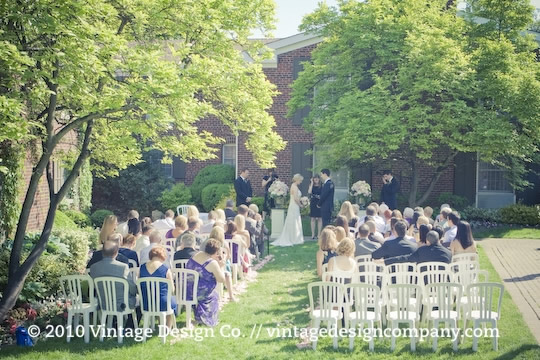 Vintage Design Co. // Outdoor Wedding Ceremony