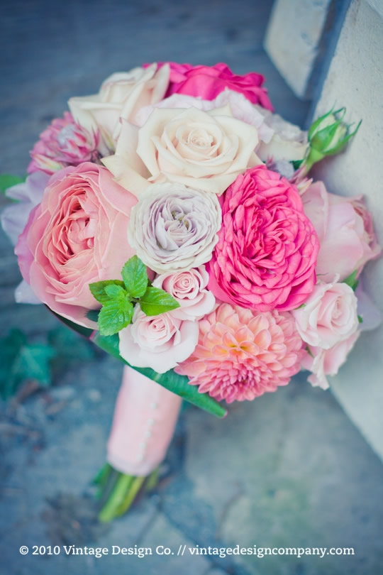 Vineland Estates Winery // Pink Bridesmaid's Bouquet