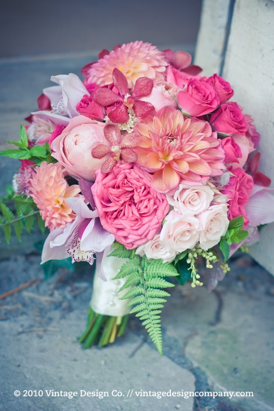 Vineland Estates Winery // Pink Bride's Bouquet