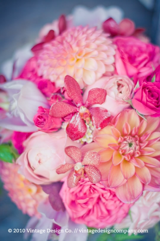 Vineland Estates Winery // Pink Bride's Bouquet Close Up