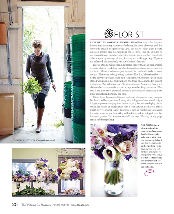 The Wedding Co. Magazine - Meet the Makers - Mimosa Flower Studio 2