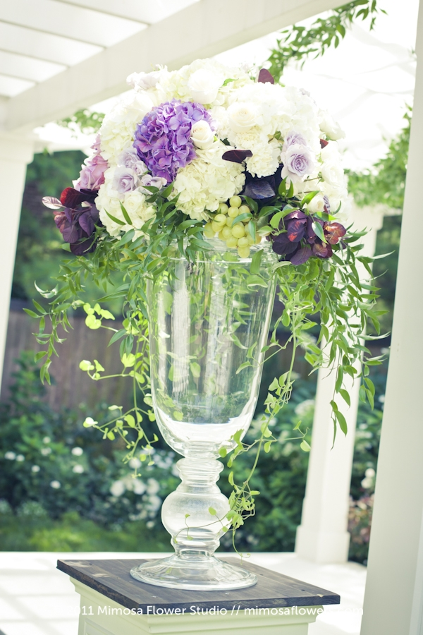Outdoor Wedding Altar Flowers