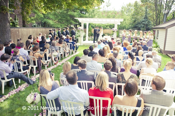 Outdoor Wedding at Miller House in Niagara on the Lake
