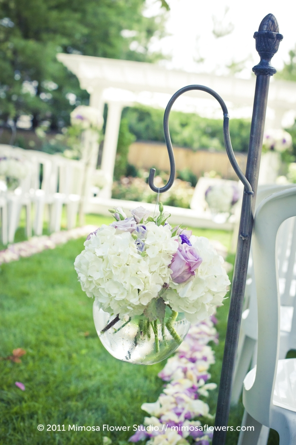 Shepherd's Hooks at Outdoor Wedding in Niagara on the Lake