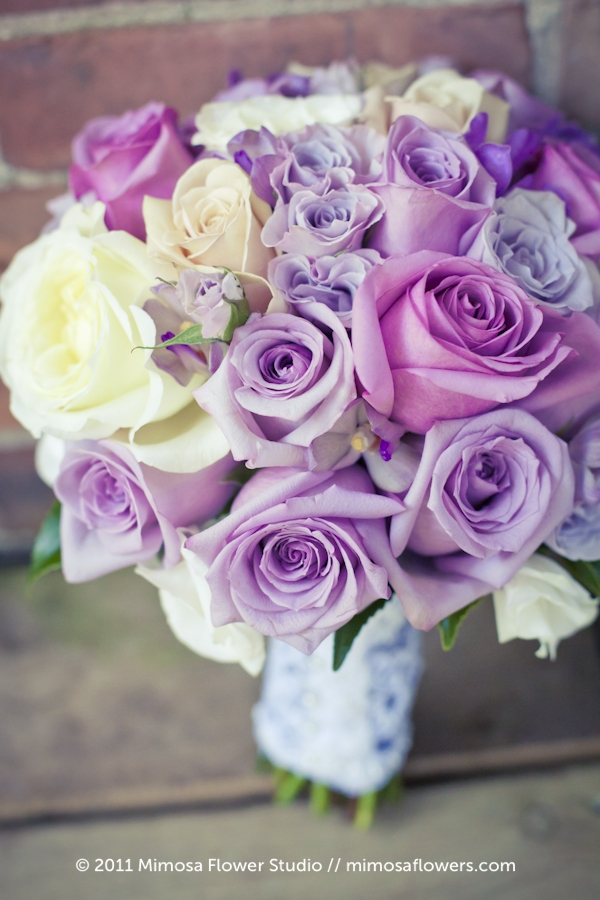 Soft purple bridal bouquet