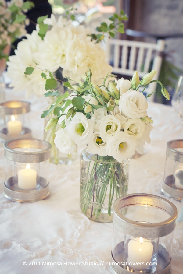 White Lisianthus Wedding Flowers at Vineland Estates Winery