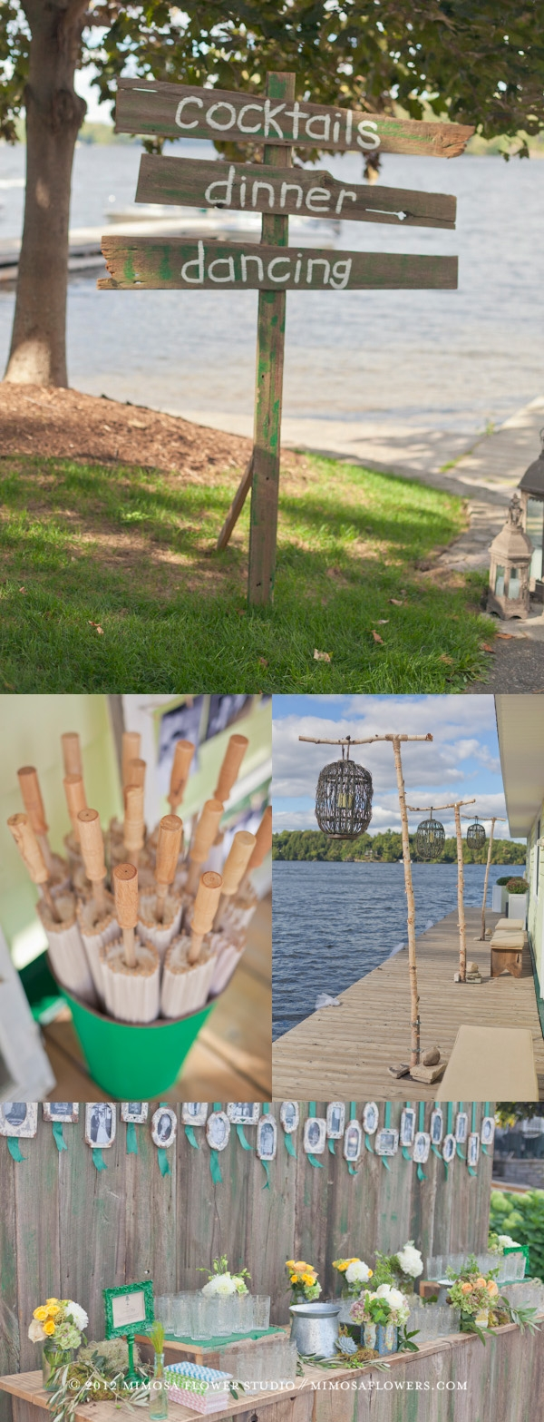 Muskoka Wedding Reception - Collage