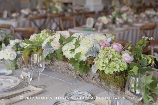 Muskoka Wedding Reception - Head Table Floral Arrangment