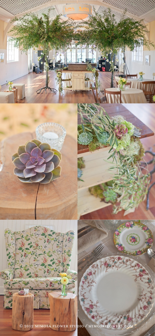 Muskoka Wedding Reception - Giant Trees and Vintage Theme