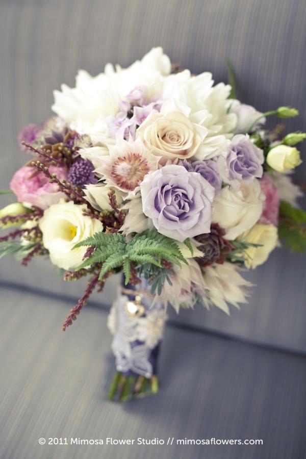 Modern Vintage Bridal Bouquet - 1