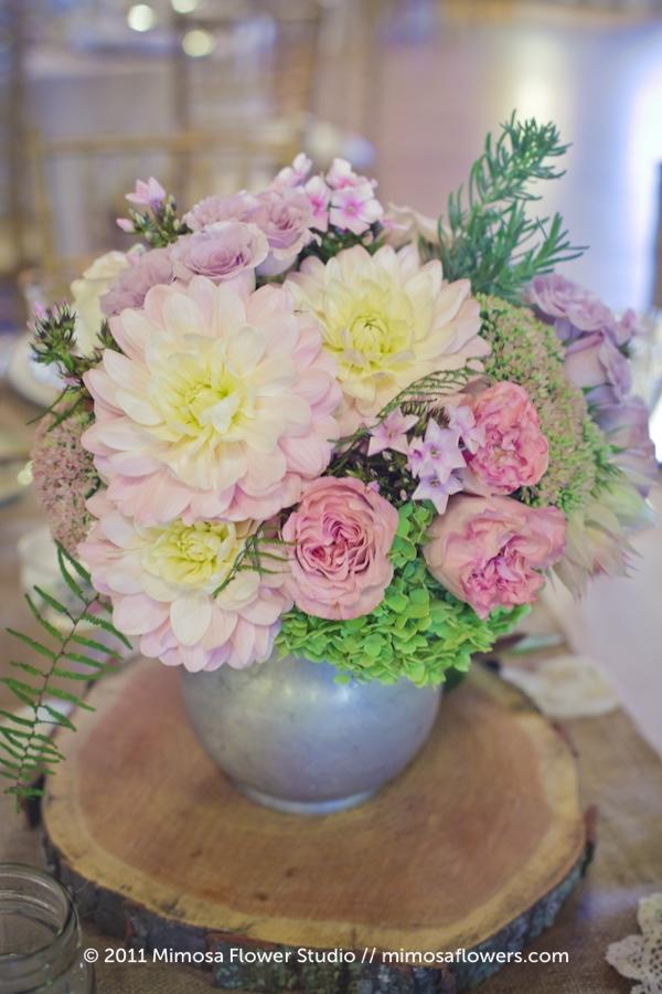 Modern Vintage Wedding Flowers Centrepieces - 1
