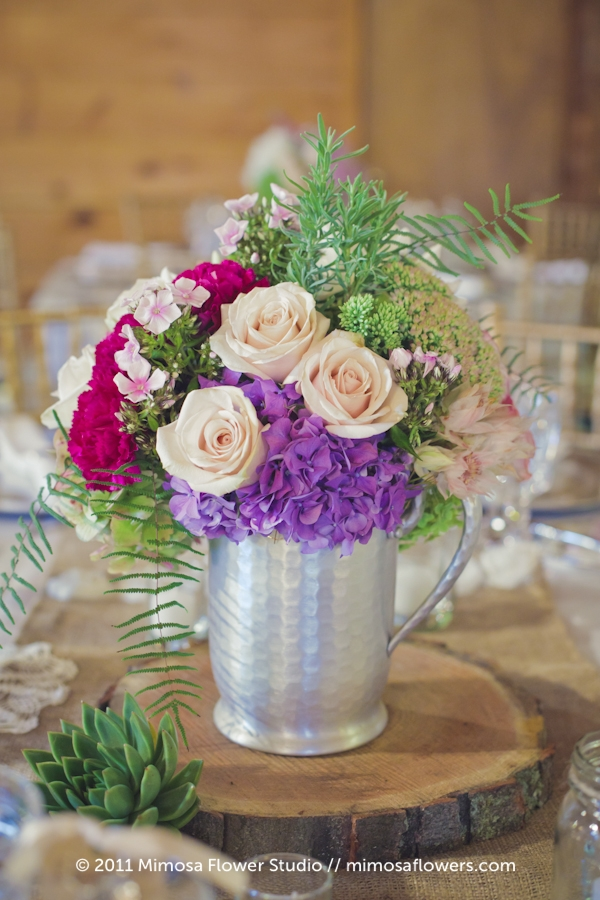 Modern Vintage Wedding Flowers Centrepieces - 2