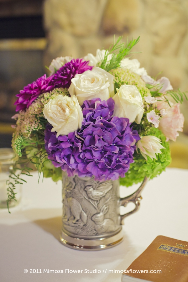 Modern Vintage Wedding Flowers Centrepieces - 4