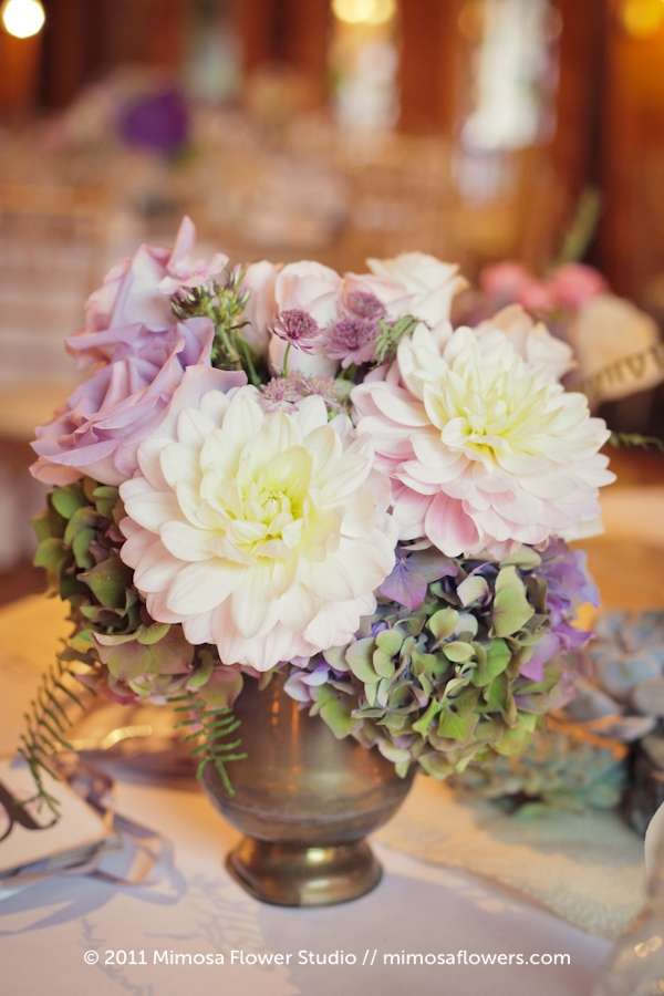 Modern Vintage Wedding Flowers Centrepieces - 5