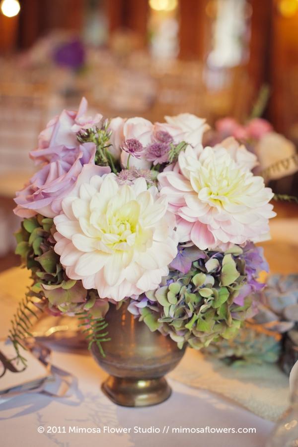 Modern Vintage Wedding Flowers Centrepieces - 5