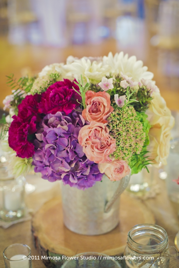 Modern Vintage Wedding Flowers Centrepieces - 7